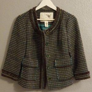 Anthropologie Tabitha Tweed Jacket Sz 6